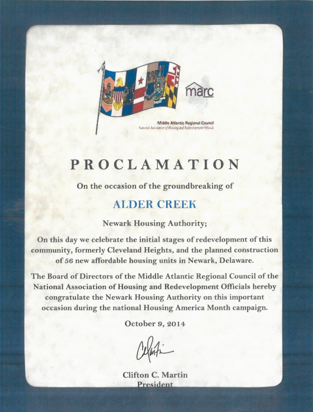AlderCreekProclamation