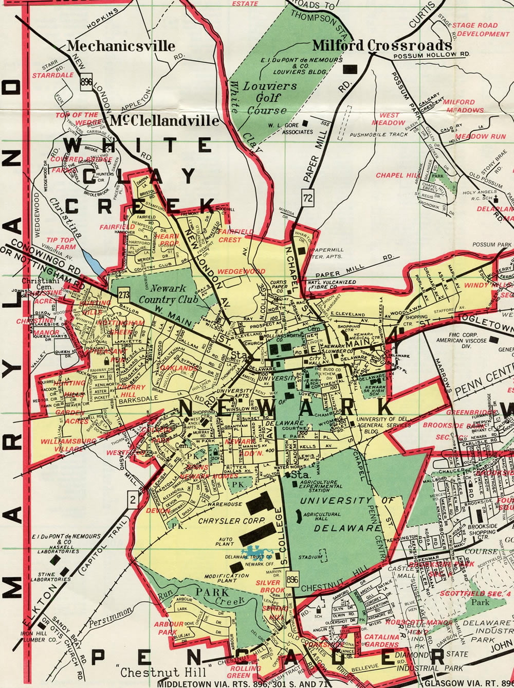 Map of the area of Newark jurisdiction in relation to housing and landlord information.