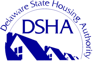 Logo for the Delaware State Housing Authority.
